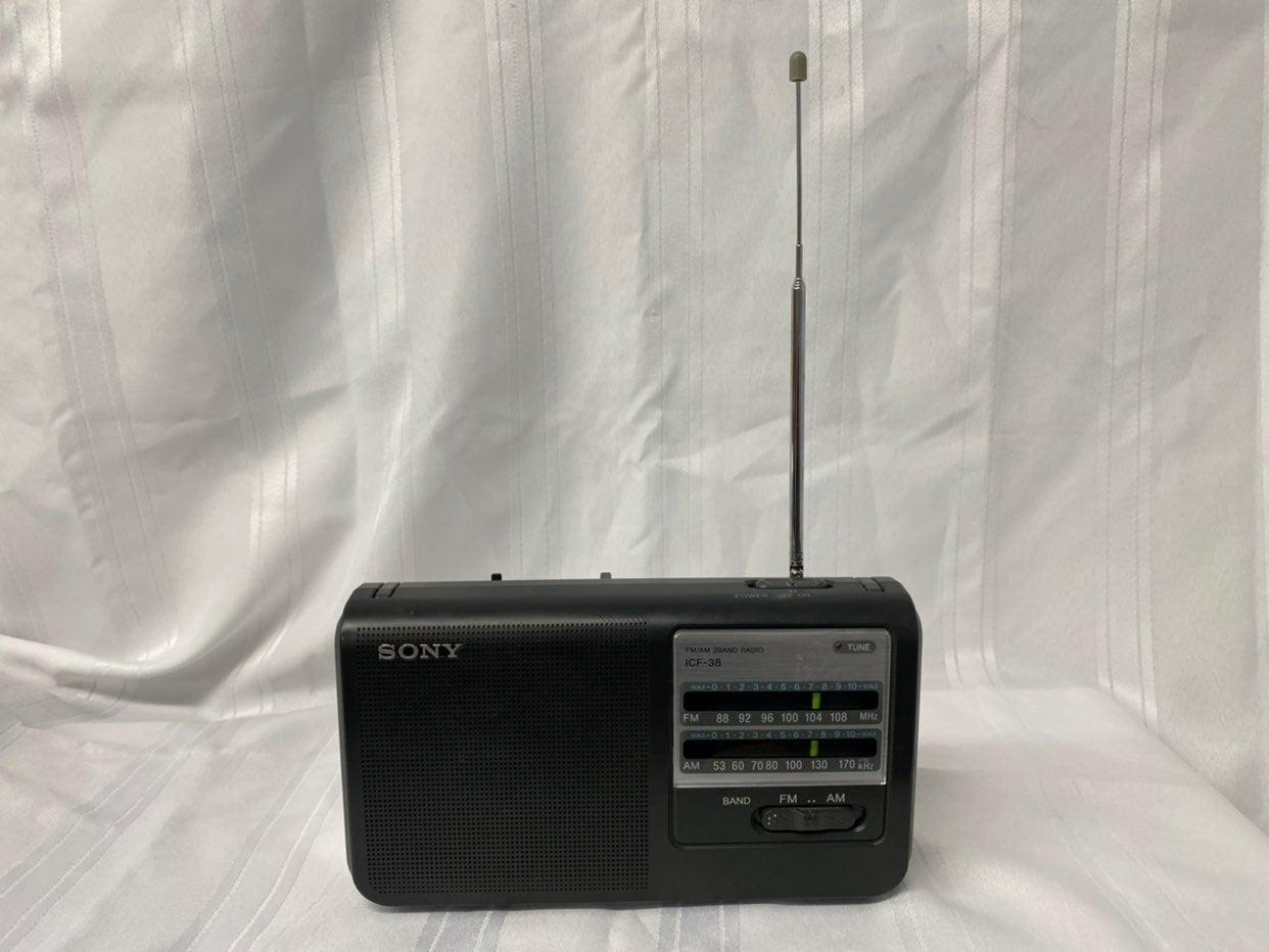 Sony ICF-38 FM/AM 2-Band Portable Radio