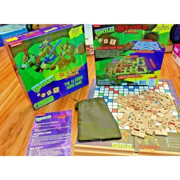 Scrabble Junior Game TMNT Board Game