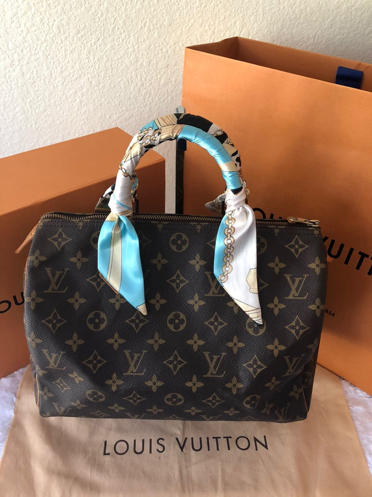 Louis Vuitton Speedy 30 Mono Satchel Bag