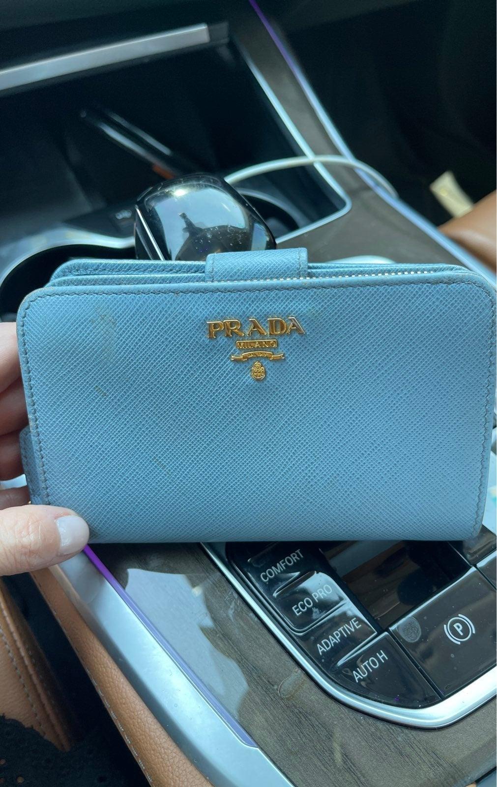 Prada Wallet light blue