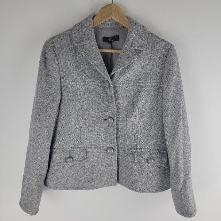 Talbots short pea coat wool blend 12P