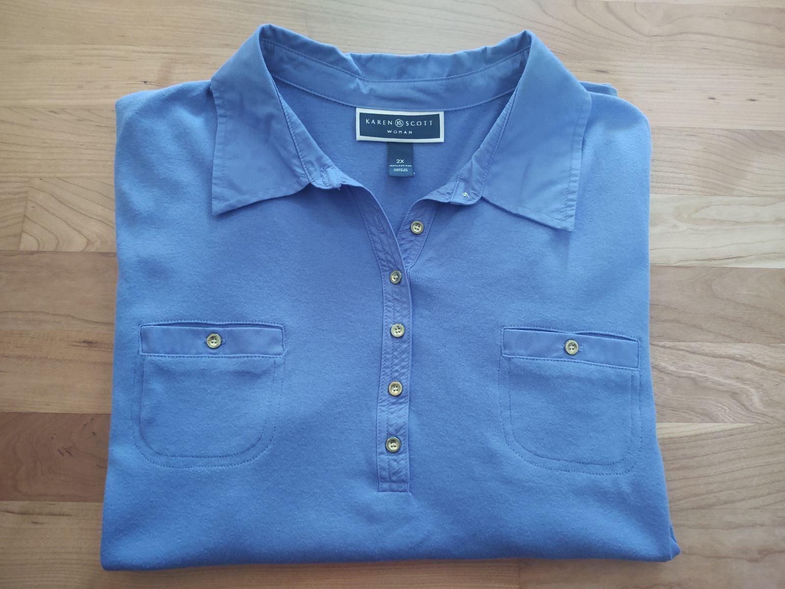 Women's Periwinkle Blue Plus Size Shirt