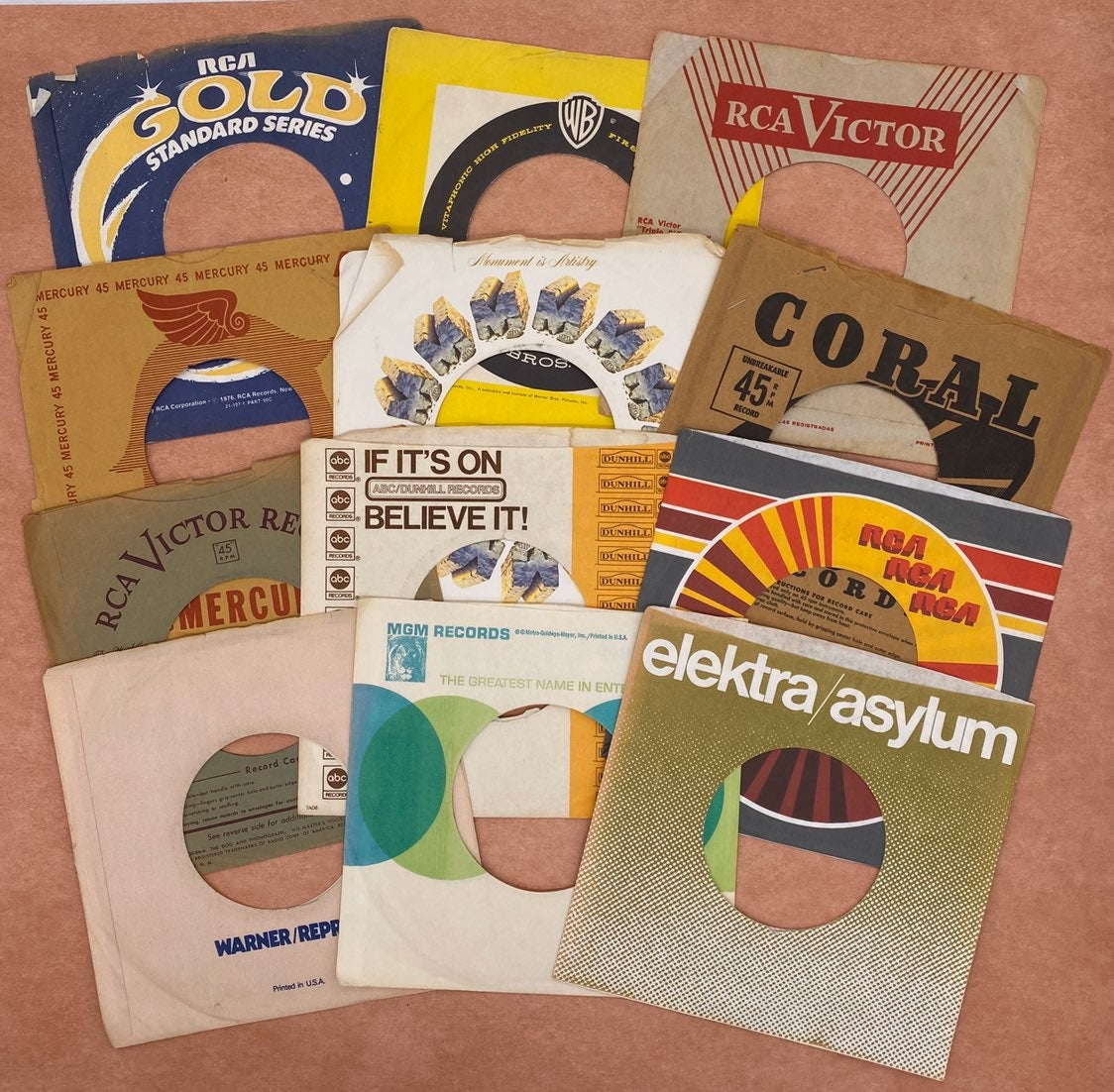 45rpm Record Sleeve Junk Journal Pockets