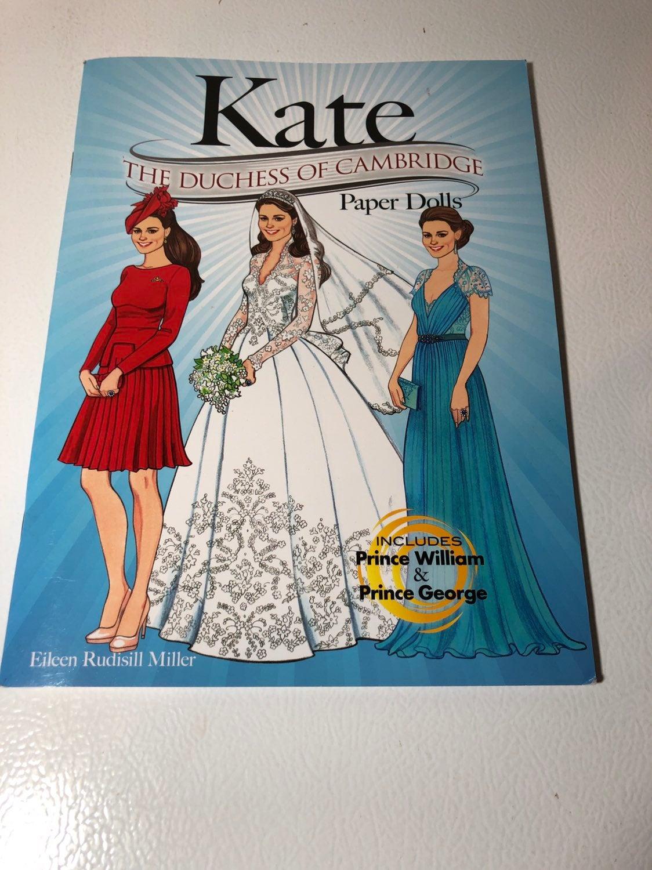 Duchess of Cambridge Kate Paper Dolls