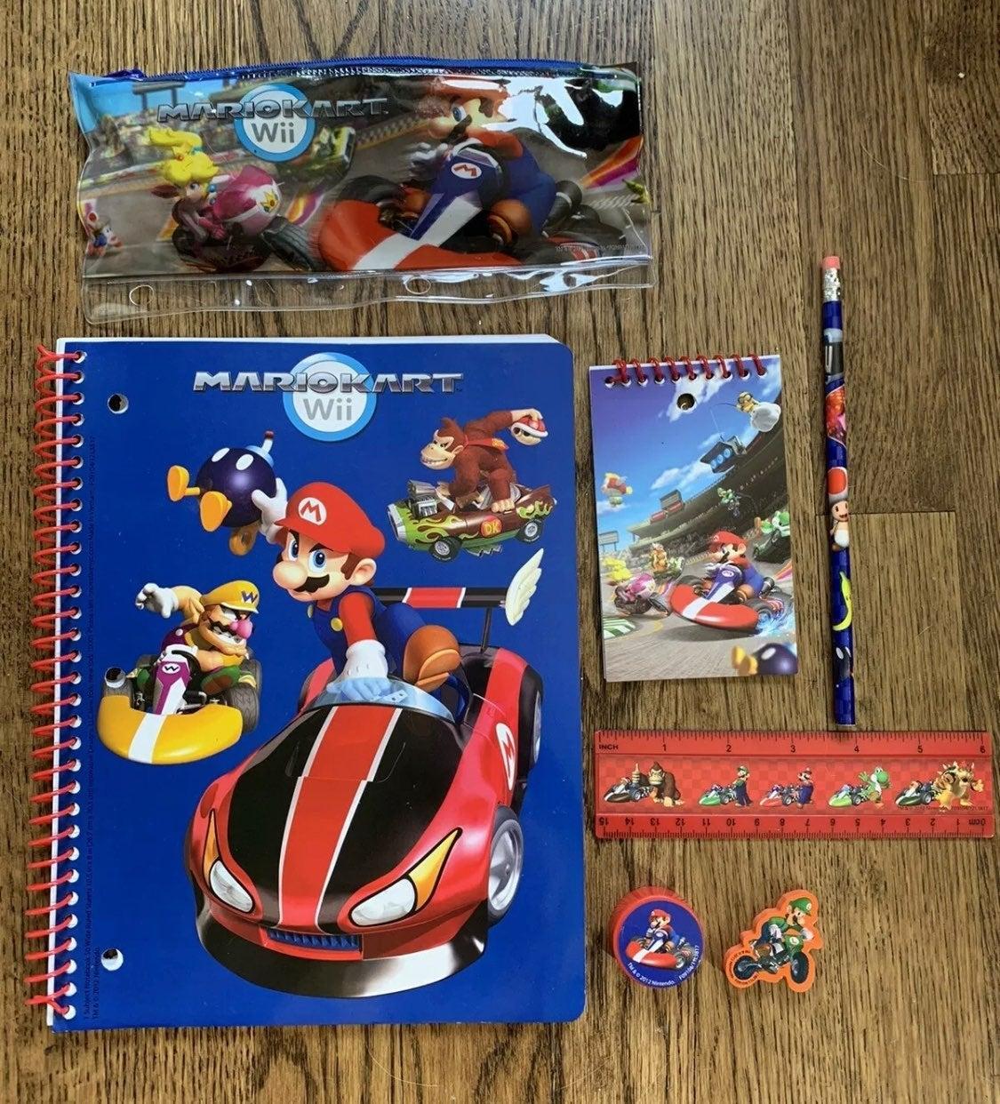 Nintendo Mario Kart school supplies