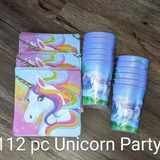 UNICORN 112p Party Napkins Cups Birthday