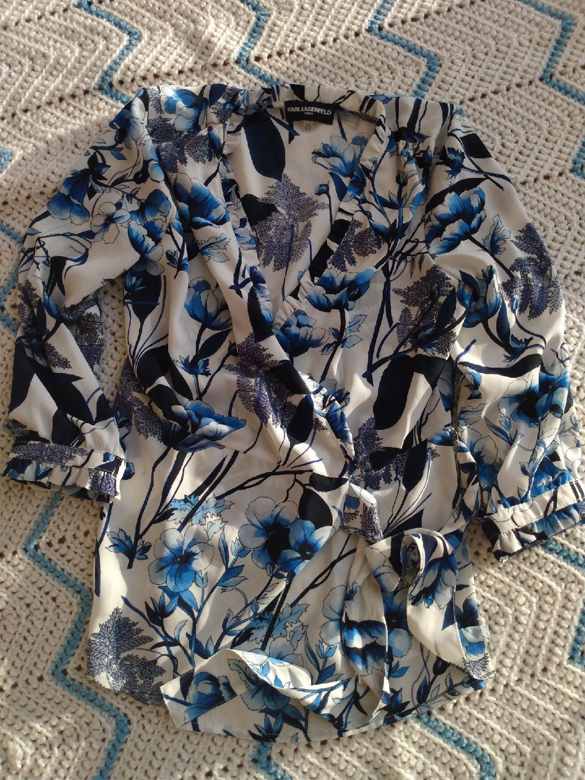 Floral wrap lagerfeld xxs