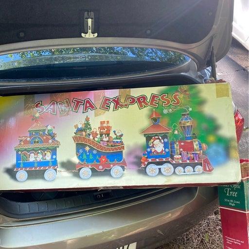 Santa express metal train/ stocking hold