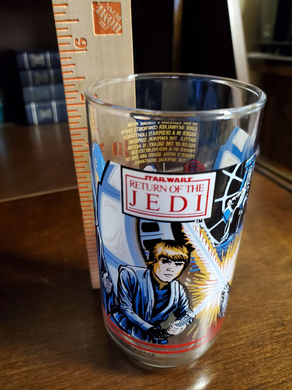 Vintage star wars glass