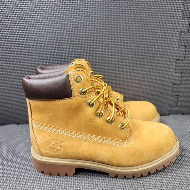 Youth Sz 4 Wheat Timberland Premium 6 In