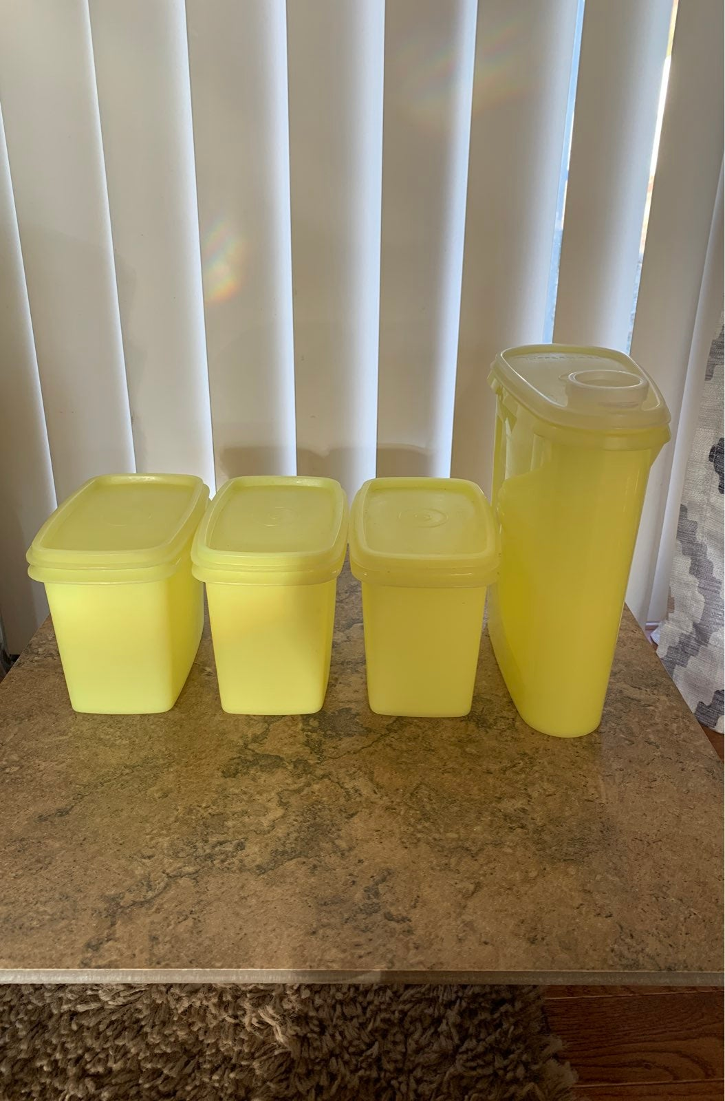 Tupperware Yellow Containers