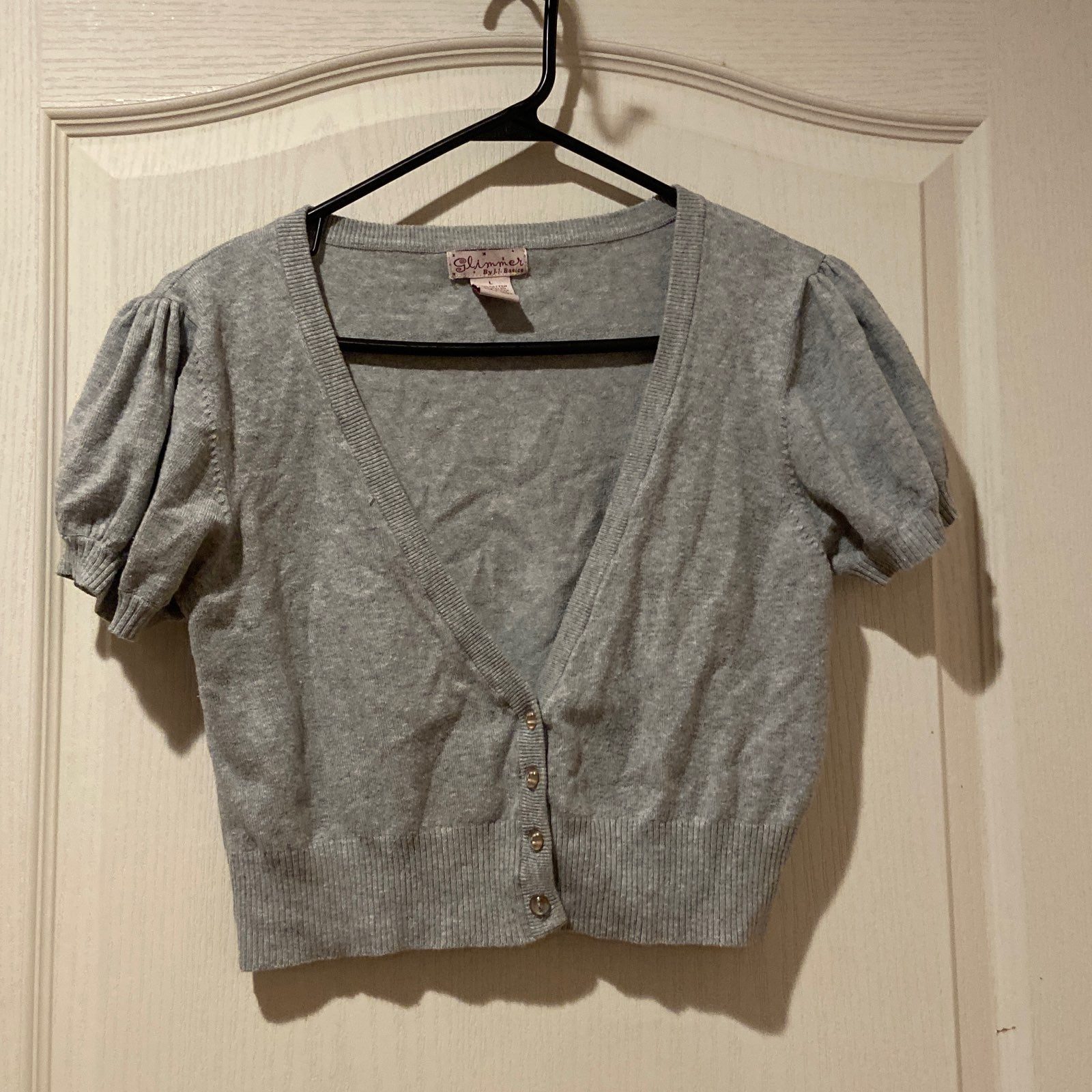 Glimmer Short Sleeves Crop Cardigan