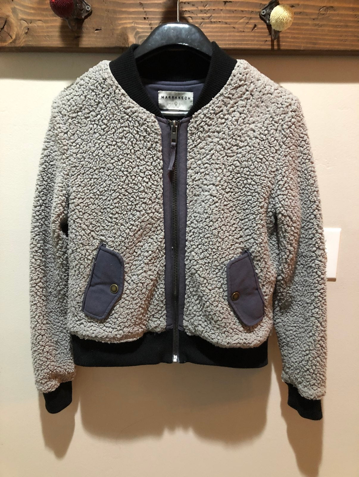 Anthropologie sherpa bomber jacket