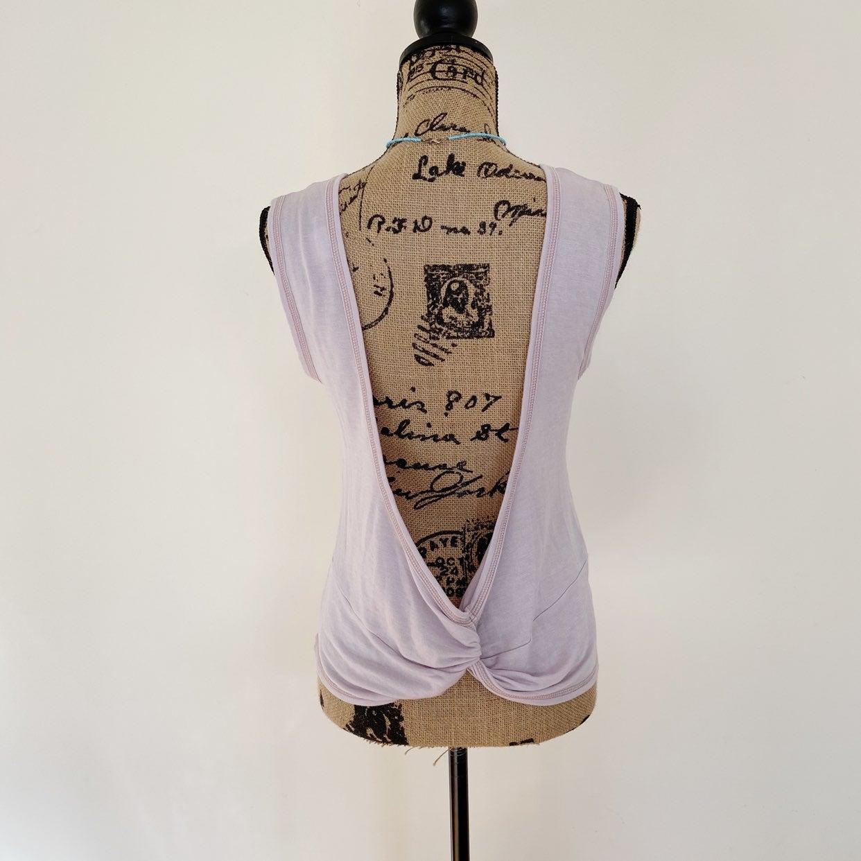 Tresics sleeveless open back knot top