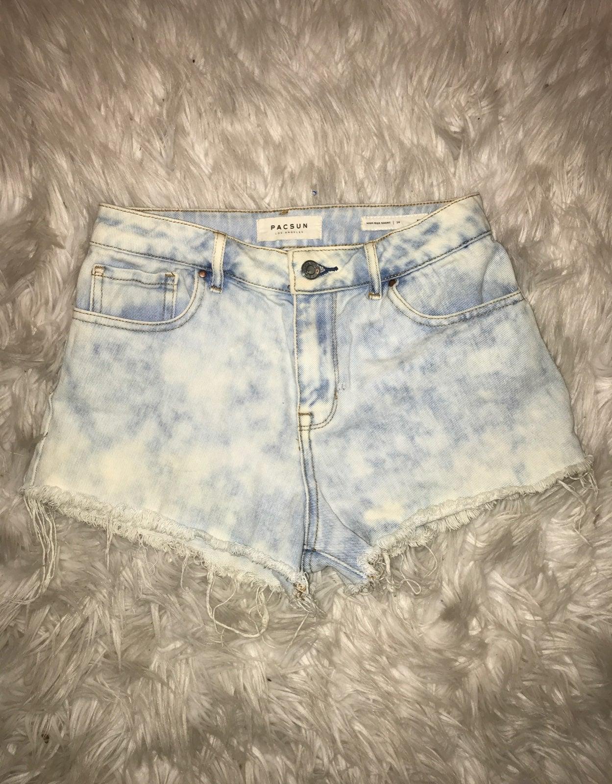 Pacsun Light Wash Jean Shorts