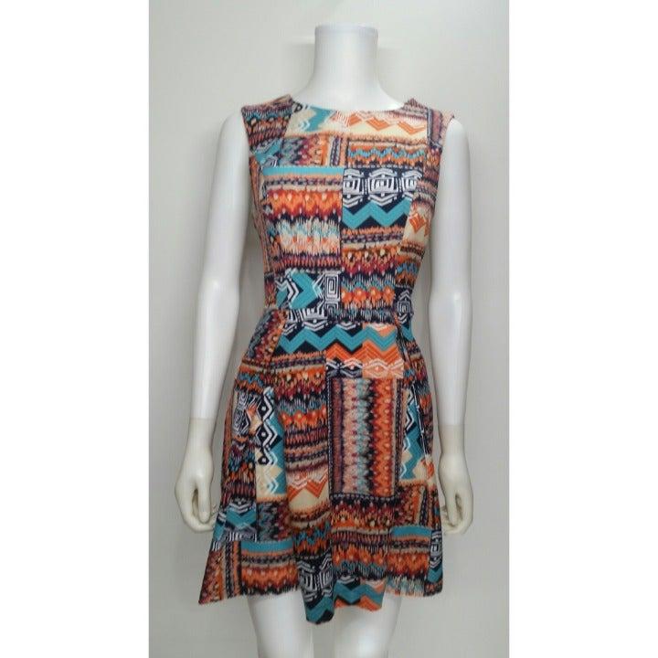 Forever 21 Pattern Tribal Dress Size S
