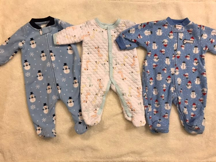 Baby boy 0-3 month sleepers
