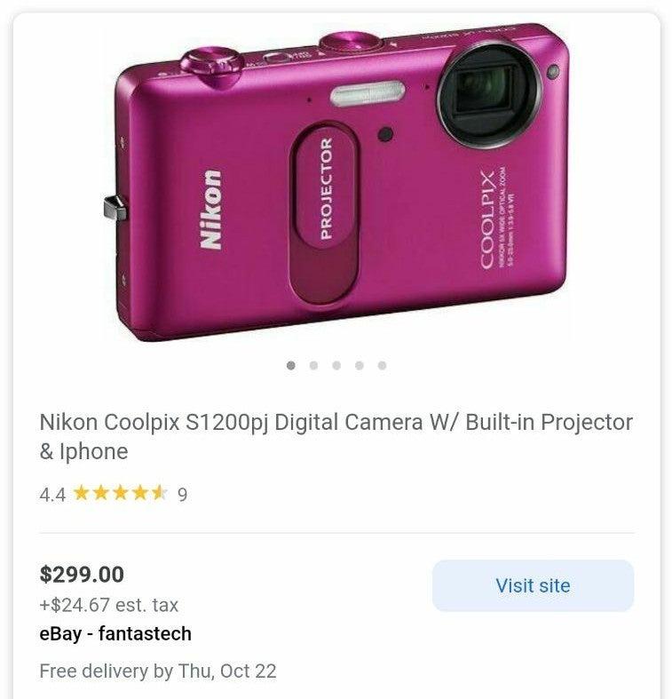Nikon COOLPIX Pink Camera