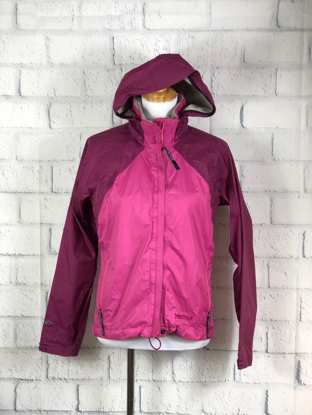 Marmot Color Block Zip Front Rain Jacket