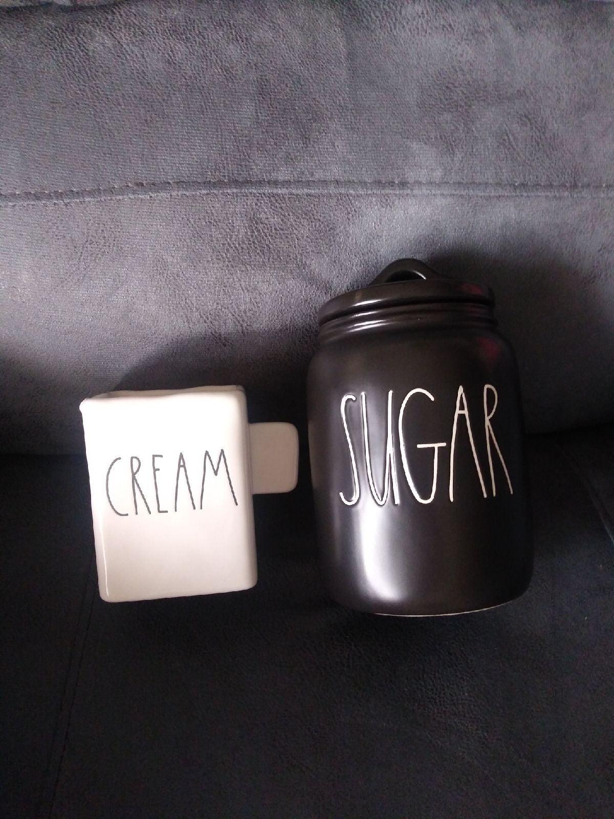 New rae dunn cream pitcher/sugar can