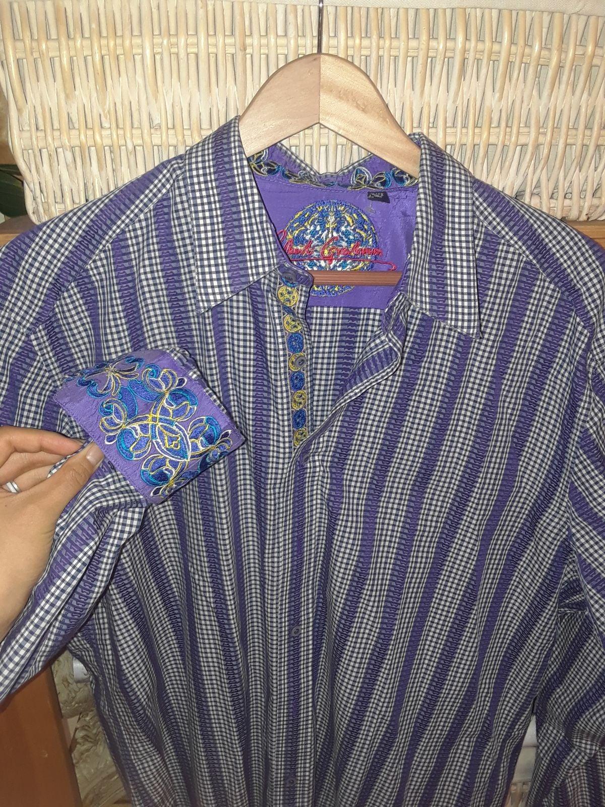 ROBERT GRAHAM Floral Stripe Embroidery