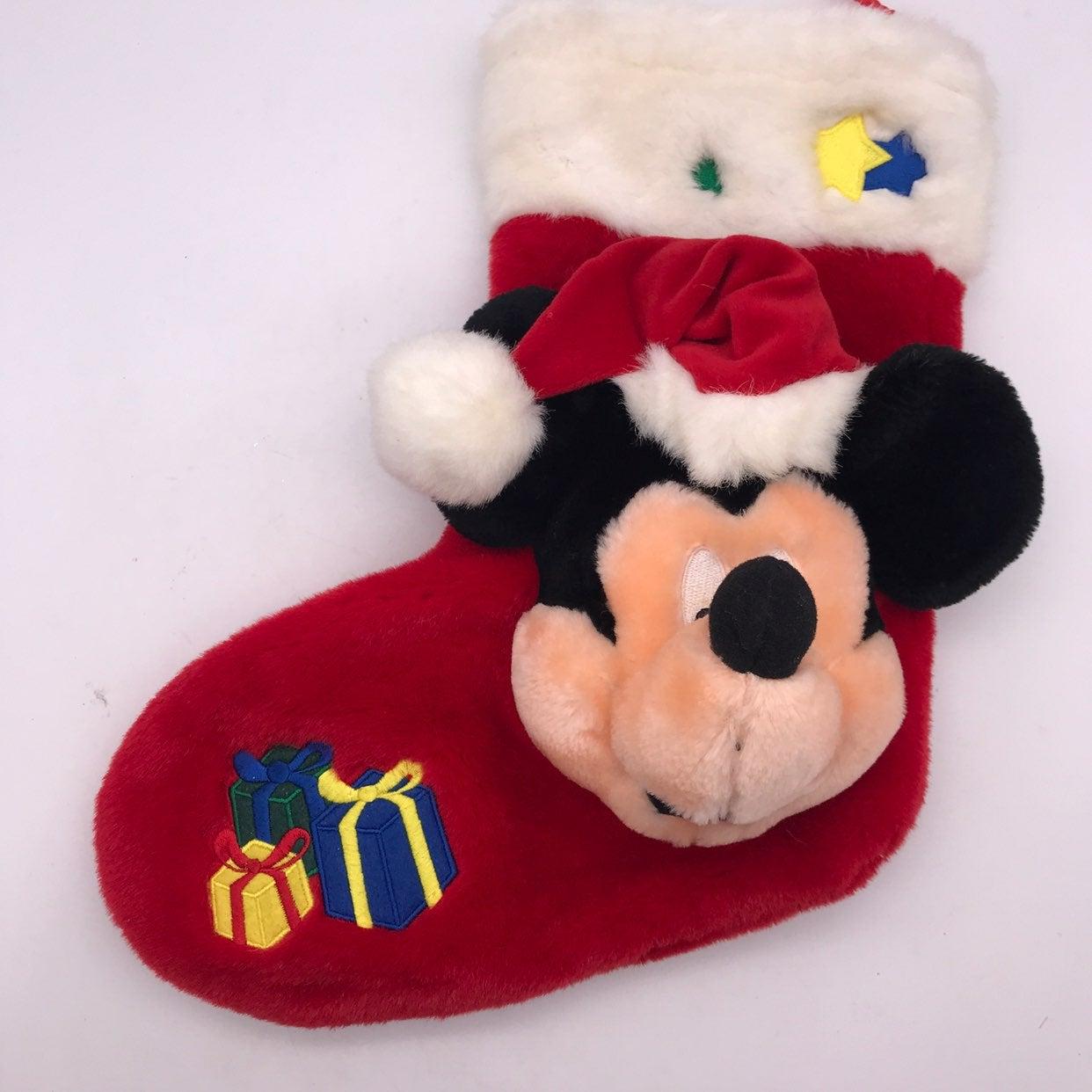 Vintage Mickey Mouse Plush Stocking