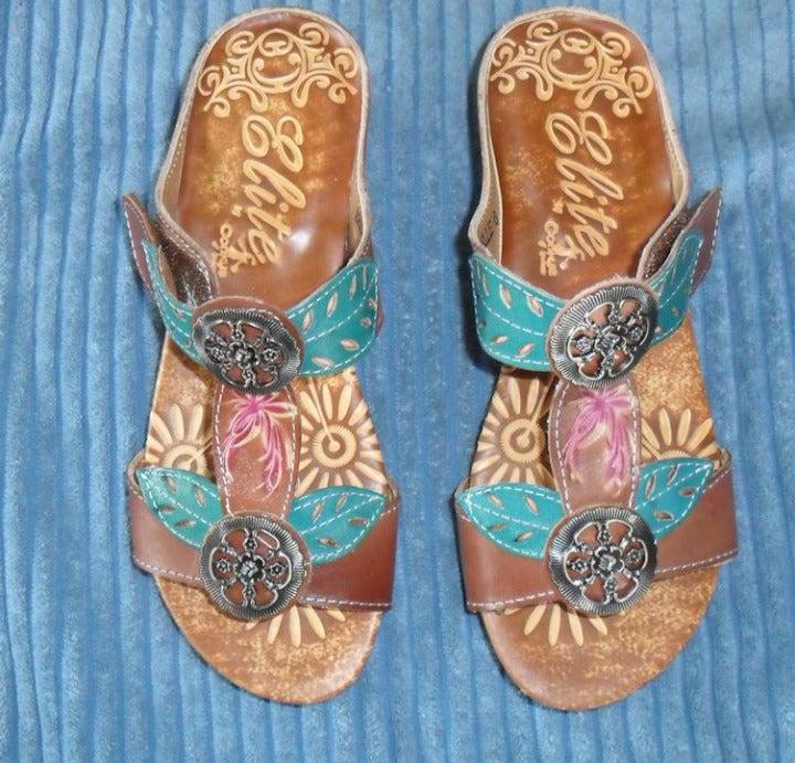 Women's Belle Elite Leather Sandals 6