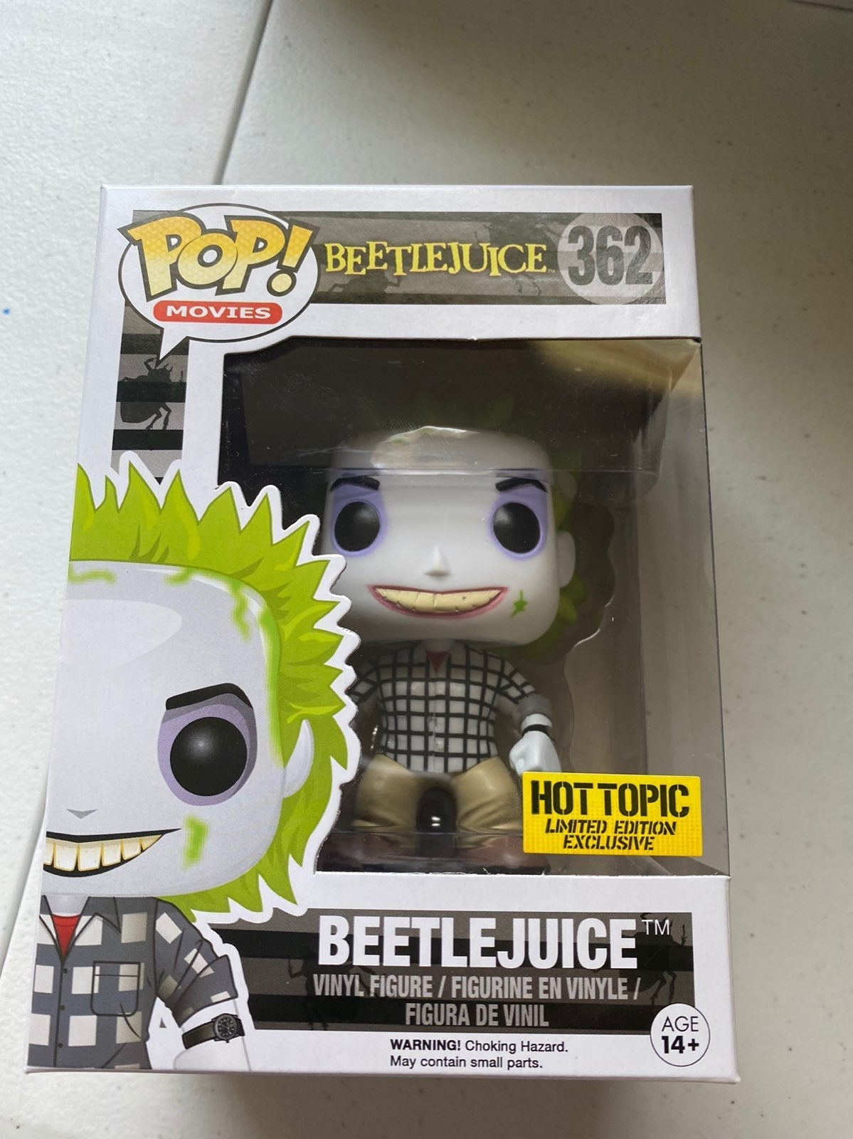Beetlejuice Funko Pop Hot Topic Exclusiv