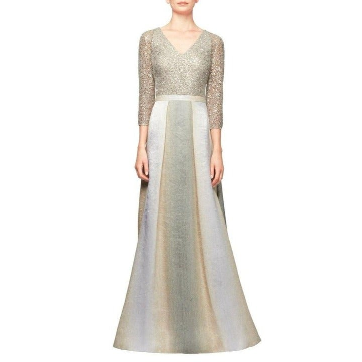 Kay Unger New York Sequin Combo Gown