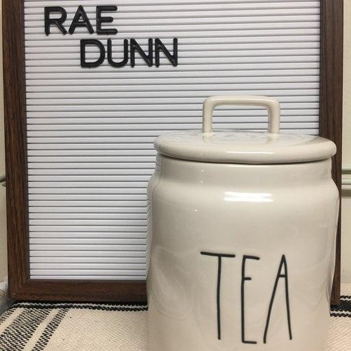 Rae Dunn tea canister