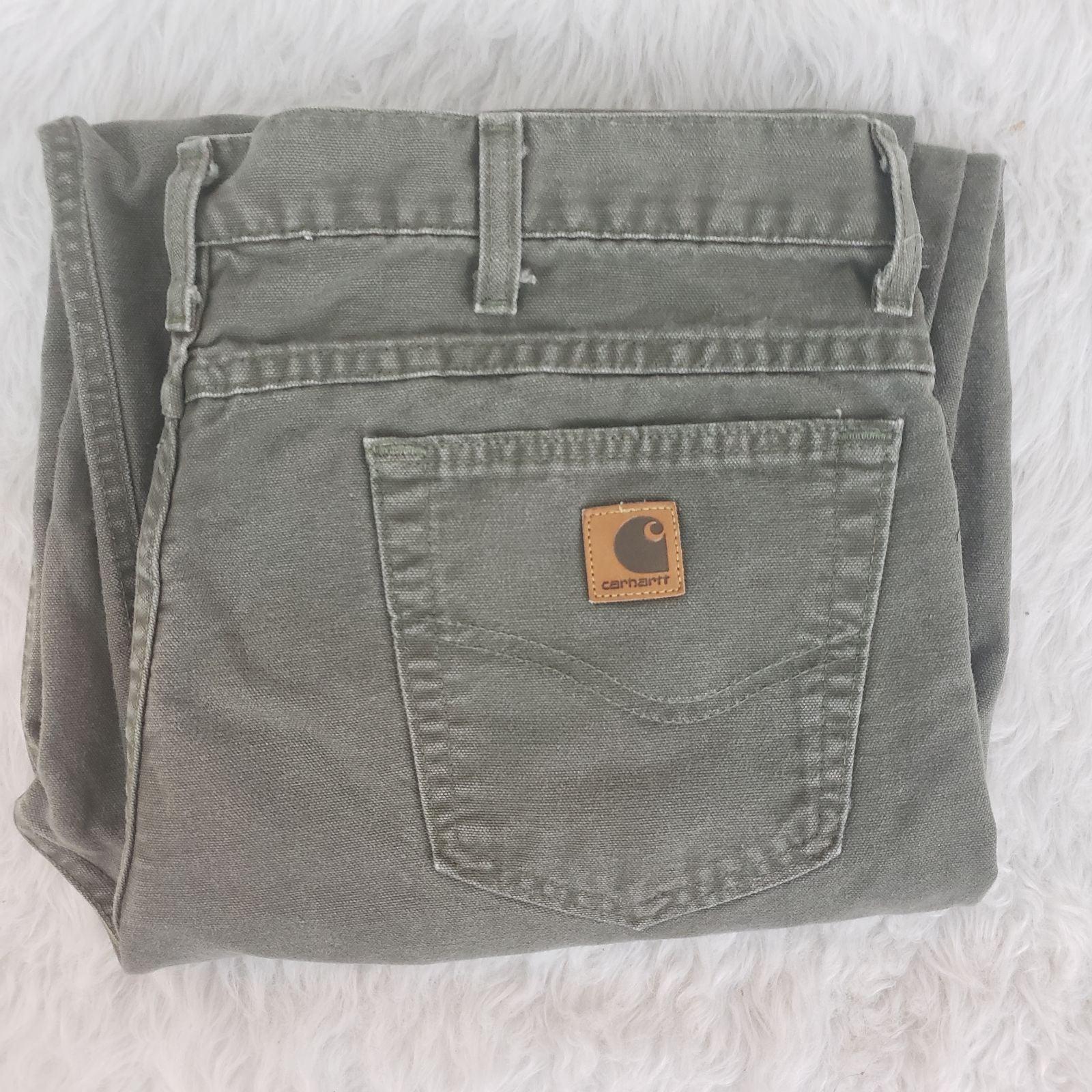 Carhartt 40x34 Gray Green Mens Jeans