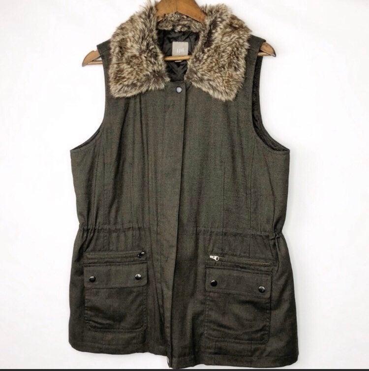 j jill drawstring waist utility vest