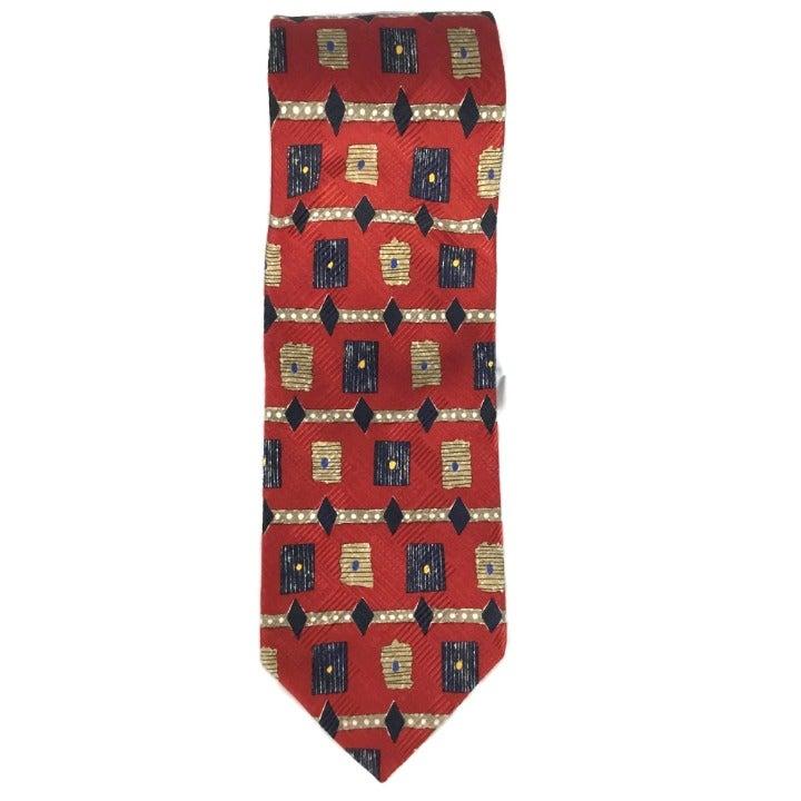 Robert Talbott Geometric Pattern Tie Red