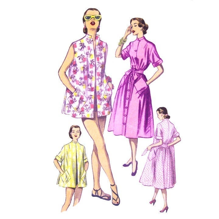 1950s Advance 5792 House Coat Dress 12
