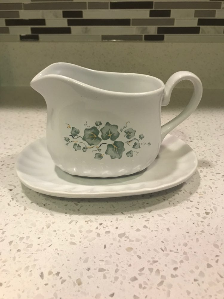 Corelle Callaway Gravy Boat and Plate