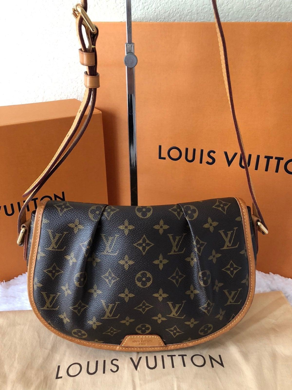 Louis Vuitton Menilmontant Canvas Bag