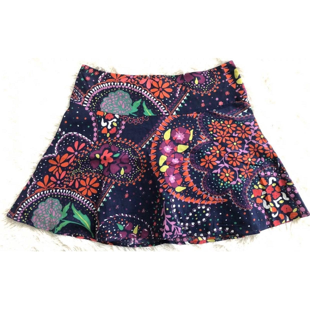 Lilly Pulitzer Navy Print Skater Skirt-8