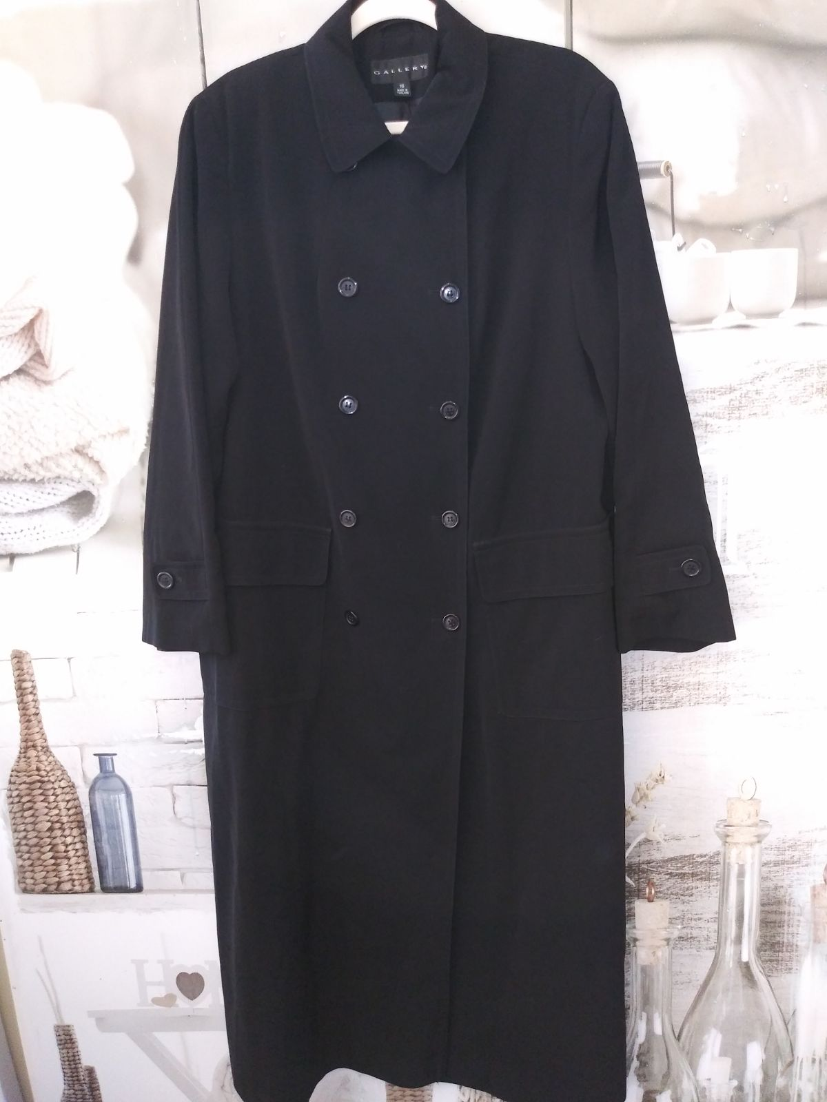 Trench Coat By Gallery Sz. XL