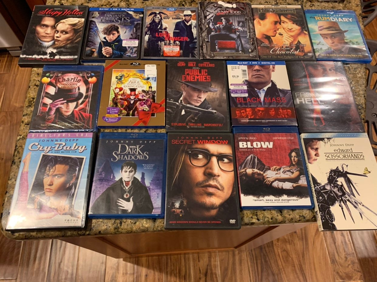 Johnny Depp 16 movie lot DVD Blu-Ray