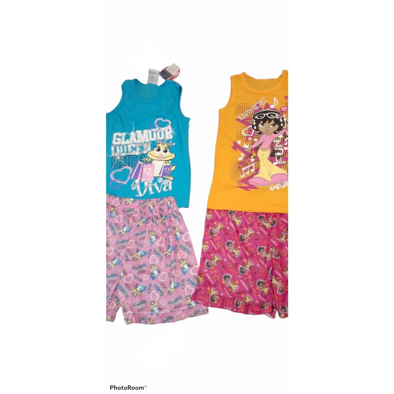 Set of 2 Girls Flame Retardant Pajamas