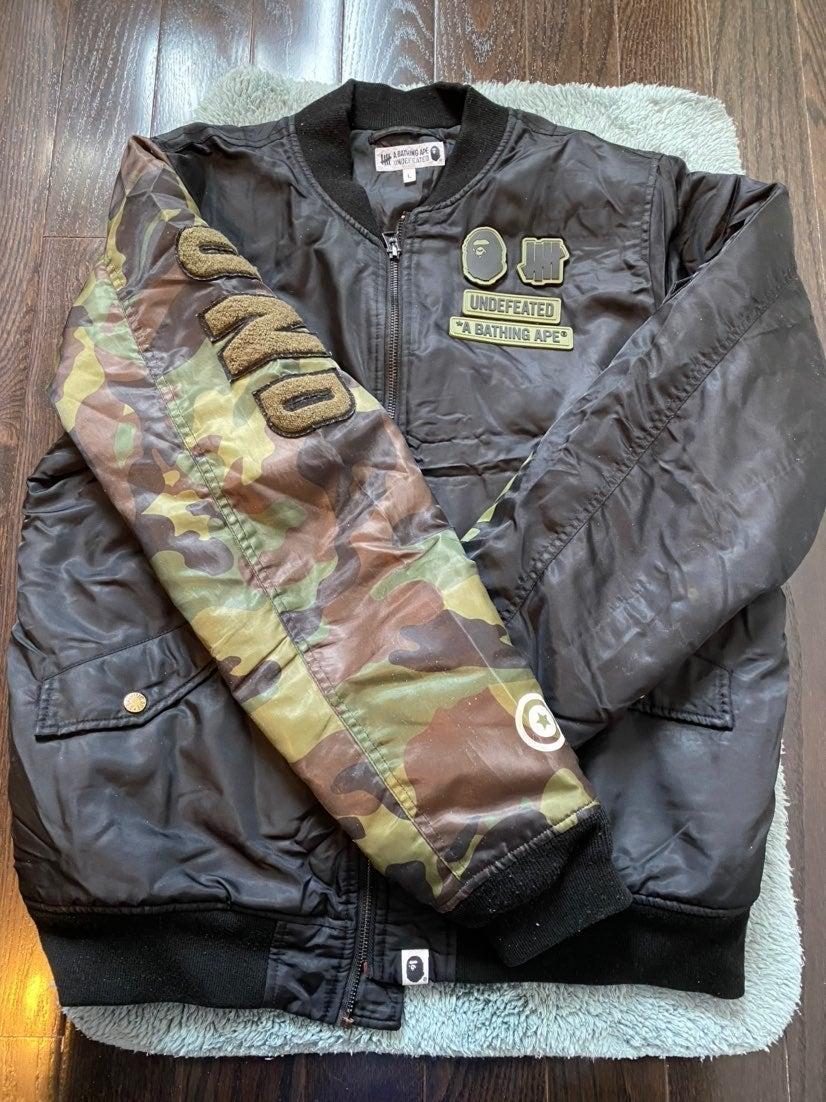 Bape undefeated Bomber Jacket USED