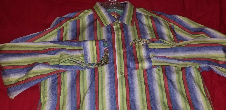 Robert Graham Mens Dress Shirt  XXL