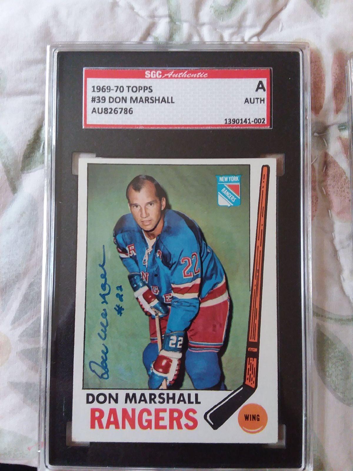1969-70 TOPPS HOCKEY DONNIE MARSHALL