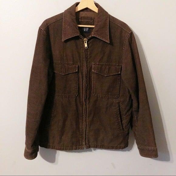 GAP Brown Corduroy Men's Zippered Jacket