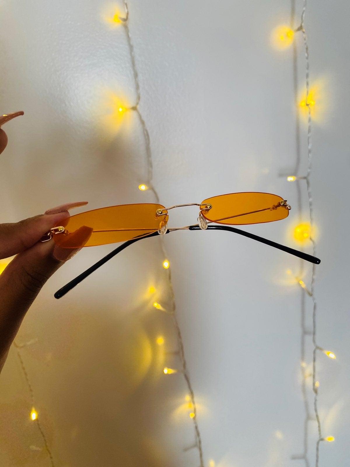 Retro orange sunglasses