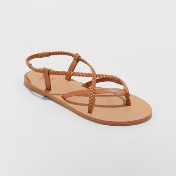 Shade & Shore Cami Braided Sandals 10