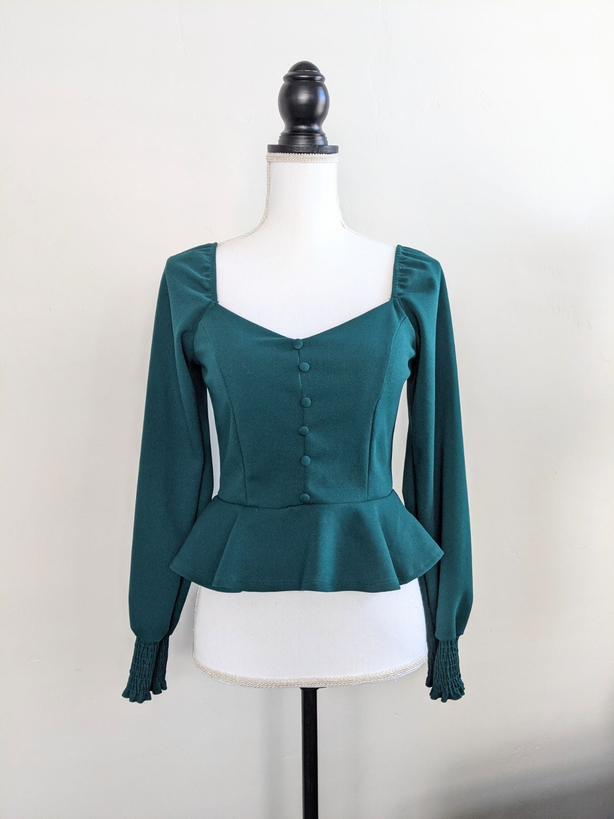 New Green Long Sleeve Top Small
