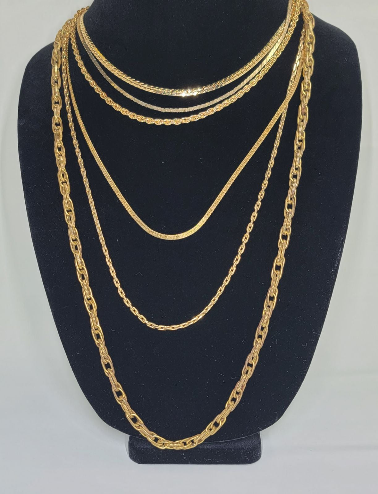 Gold Tone Chain Set of 6