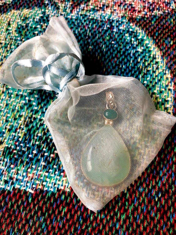 Jade & Quartz Druze Crystal Pendant