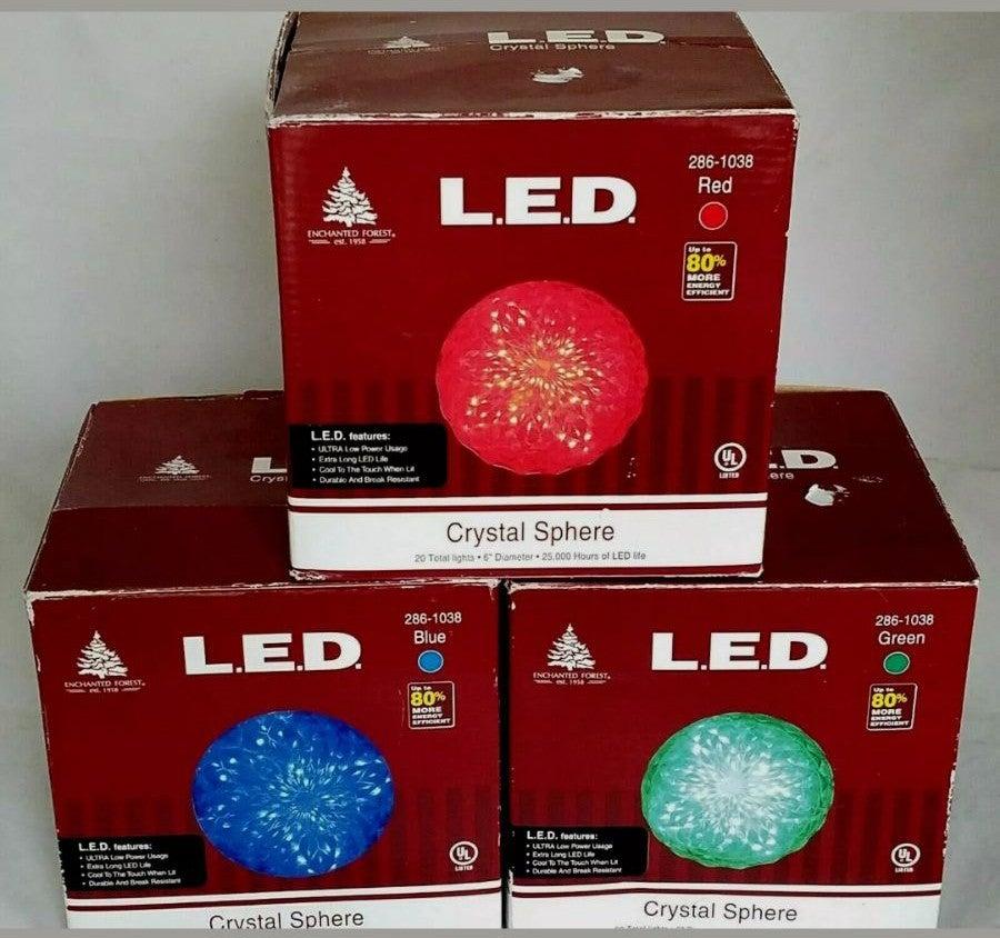 """Lot 3 20 LED Light Super Sphere 6"""" Light"""